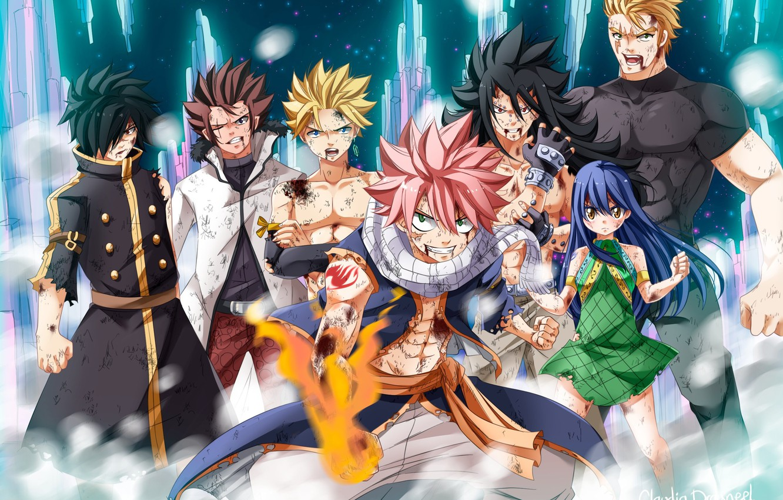 Photo wallpaper blood, game, anime, Cobra, Rogue, dragon, asian, manga, Wendy, japanese, Sting, Fairy Tail, Natsu, oriental, …