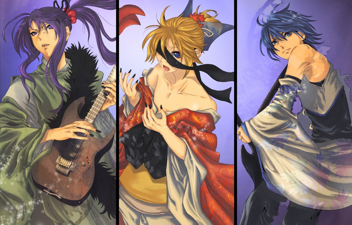 Photo wallpaper collage, Vocaloid, Vocaloid, characters