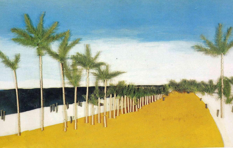 Photo wallpaper beach, palm trees, Landscape, Francis Picabia