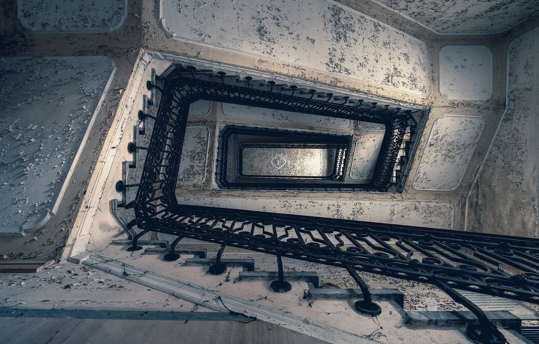 Photo wallpaper background, ladder, railings