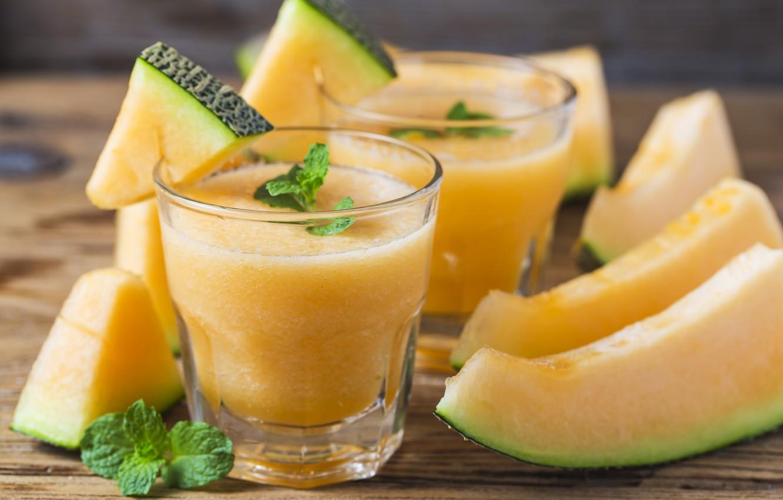 Photo wallpaper juice, drink, mint, melon