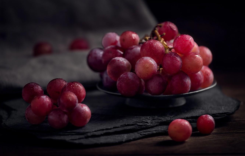 Photo wallpaper macro, berries, food, grapes, Grona