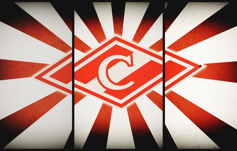 Photo wallpaper Red, Sport, Logo, Football, Background, Emblem, Russia, Club, Hockey, Spartacus, Football Club, Rhombus, Meat, 1922, …