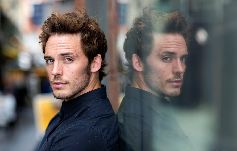 Photo wallpaper reflection, actor, Sam Claflin