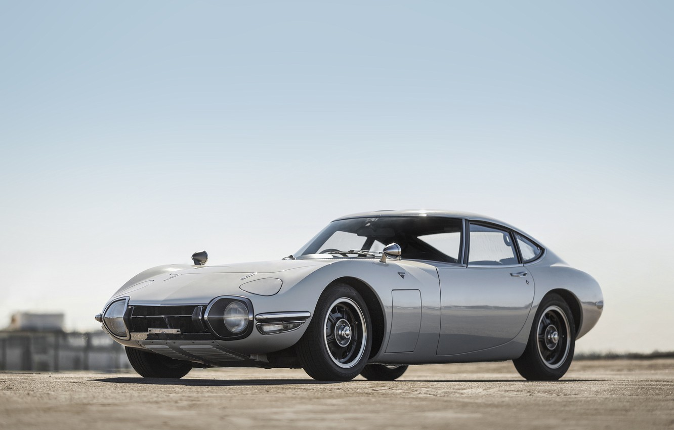 Photo wallpaper Toyota, 1968, 2000GT, Silver