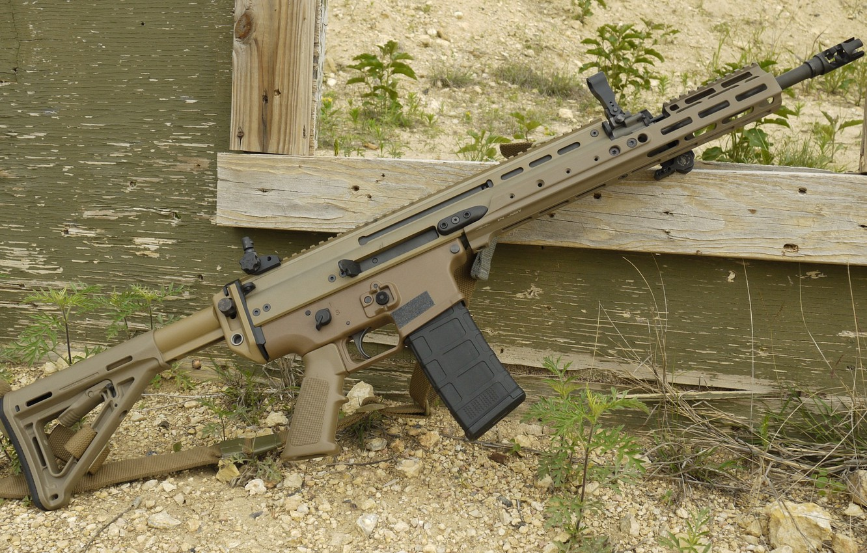 Photo wallpaper weapons, machine, weapon, custom, assault rifle, SCAR, assaul rifle, SCAR-L