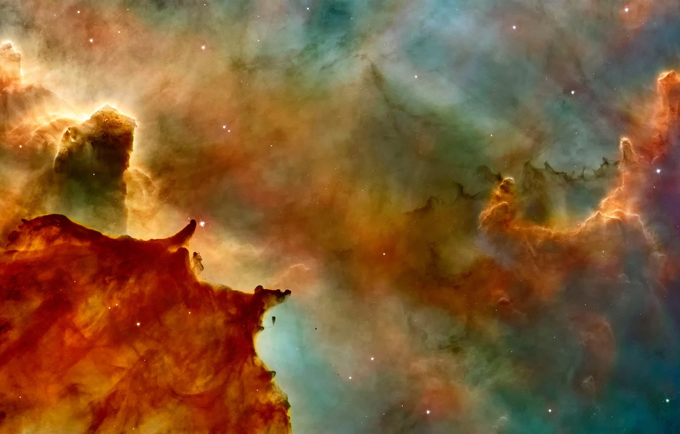 Photo wallpaper space, stars, NASA, nebula