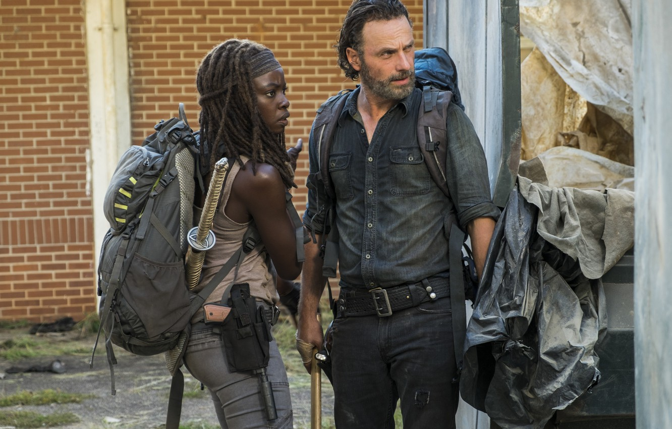 Wallpaper Weapons The Walking Dead Andrew Lincoln Michonne