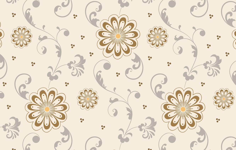 Photo wallpaper background, pattern, Flowers, Texture units, beige