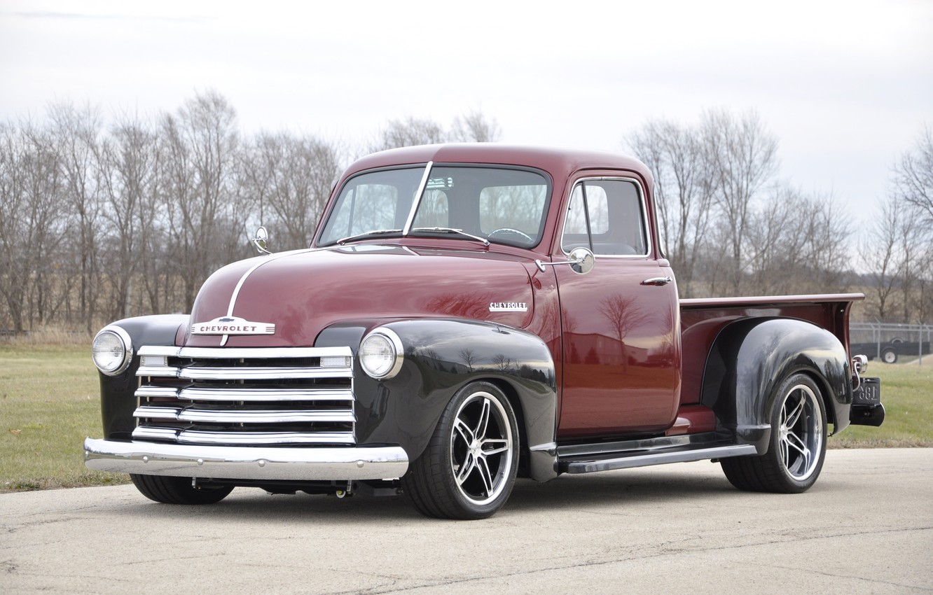 Photo wallpaper Chevrolet, Truck, Wheels, 3100, Forgeline, Shop, on, Schism, Grip Equipped