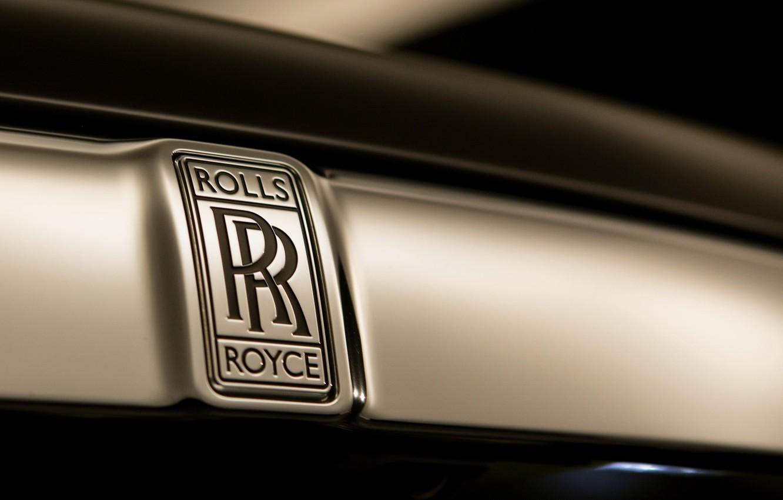 Photo wallpaper Rolls-Royce, emblem, logo, Dawn, 2018