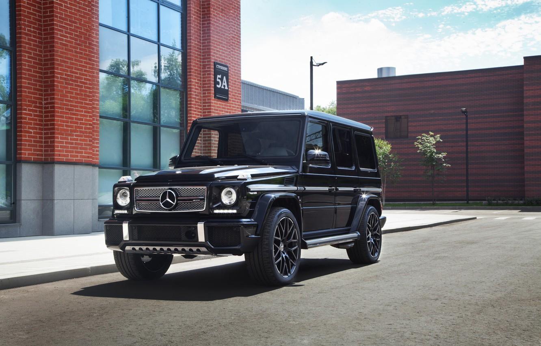 Photo wallpaper Mercedes, AMG, Black, G63, Brick