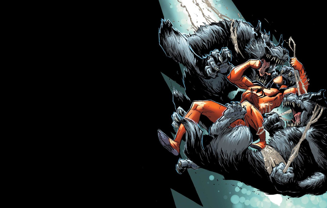 Photo wallpaper battle, comic, spider man, Marvel Comics, werewolves, Clone, Scarlet spider, Cain
