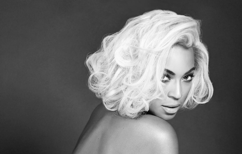 Photo wallpaper portrait, black and white, singer, Beyonce
