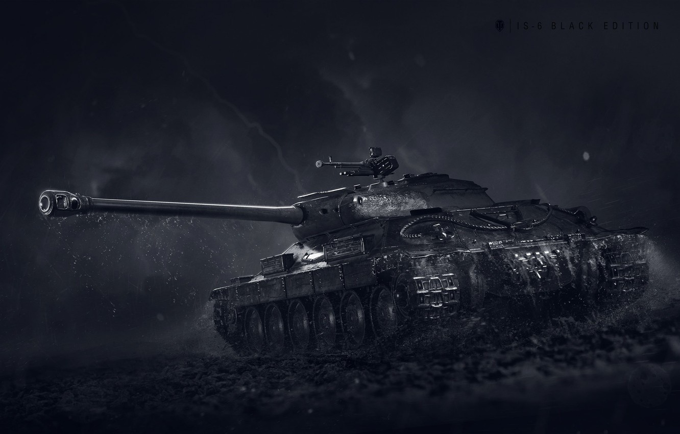 Photo wallpaper WoT, World of Tanks, World Of Tanks, Wargaming Net, Is-6, IS-6 Black Edition
