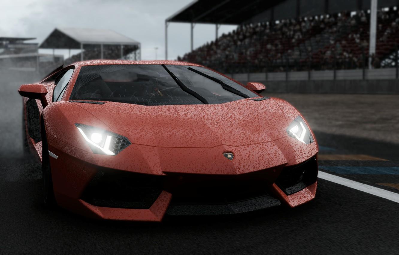 Photo wallpaper Lamborghini, Lamborghini Aventador, project, Project CARS 2