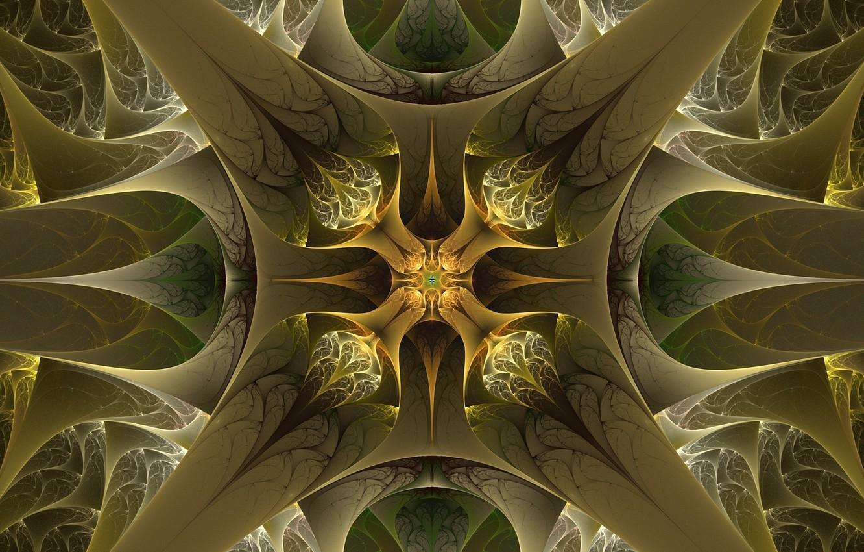 Photo wallpaper pattern, khaki, green