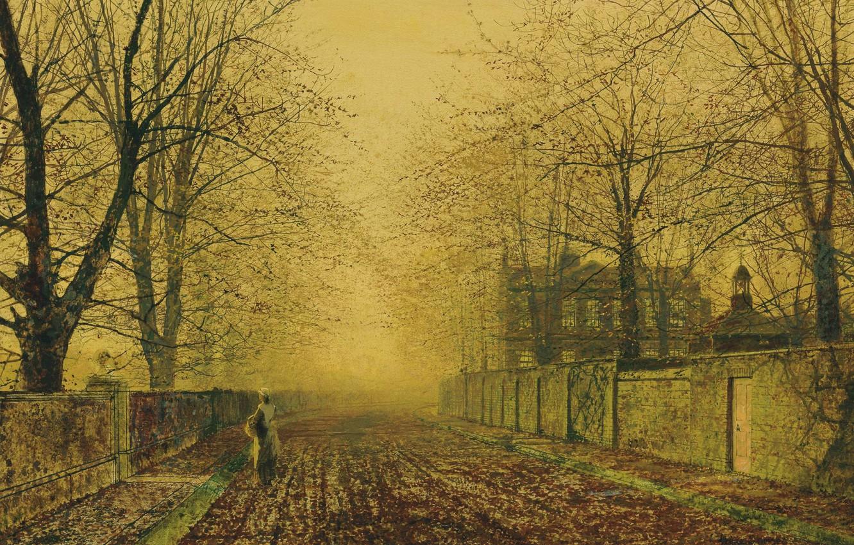 Wallpaper Girl Trees Landscape Fog House Street The Fence