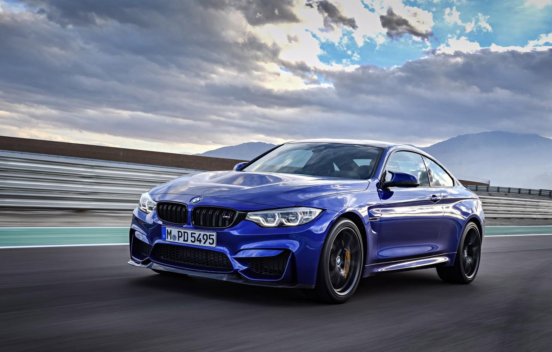 Photo wallpaper car, BMW, sky, blue, cloud, speed, asphalt, kumo, BMW M4 CS