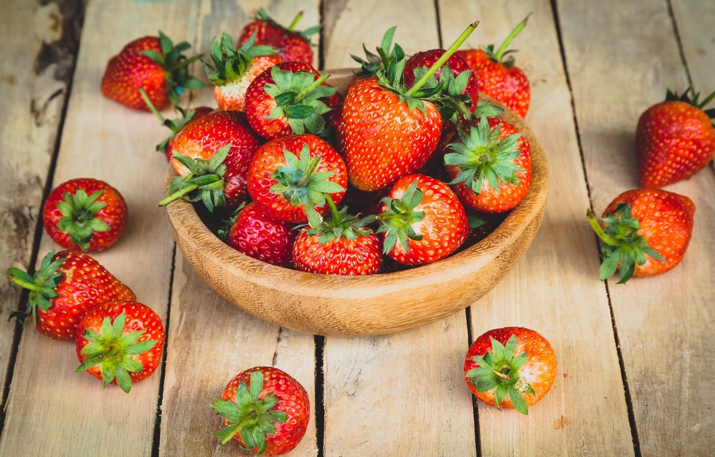 Photo wallpaper strawberry, berry, bowl, ripe, delicious