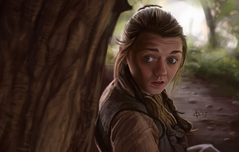 Wallpaper Art Game Of Thrones Arya Stark Maisie Williams