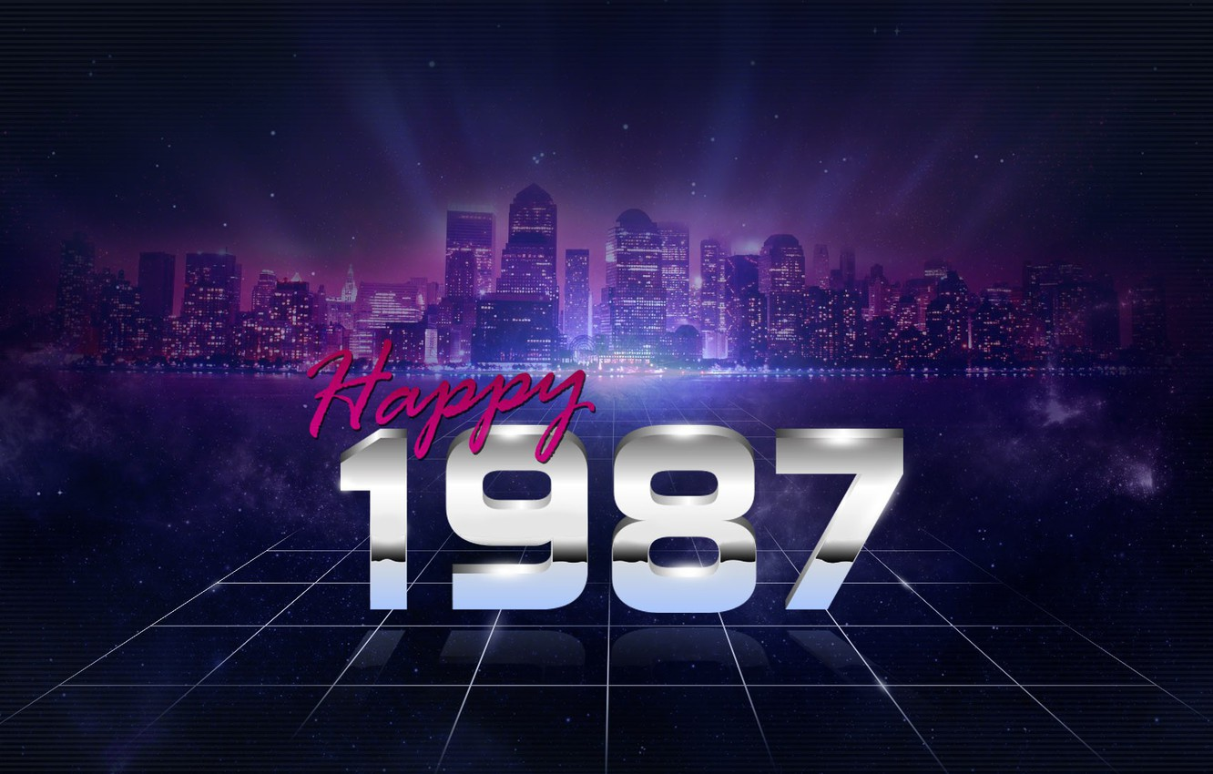 Photo wallpaper Music, The city, Stars, Electronic, Happy, 1987, Synthpop, Darkwave, Synth, Retrowave, Synth-pop, Sinti, Synthwave, Synth …
