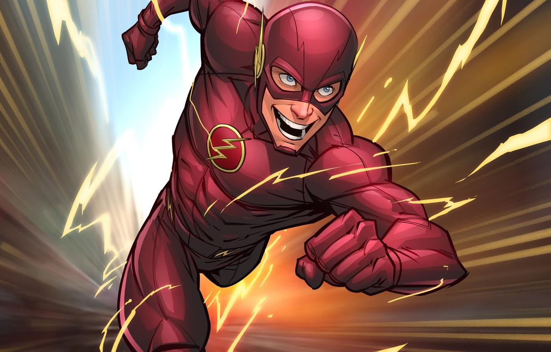Photo wallpaper superhero, art, flash, DC Comics, Patrick Brown, PatrickBrown, barry allen