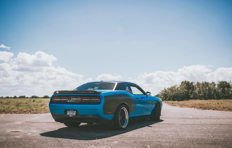 Photo wallpaper road, auto, engine, car, Dodge, Dodge, Challenger, drives, road, monster, auto, SRT, Challenger, engine, slider, ...