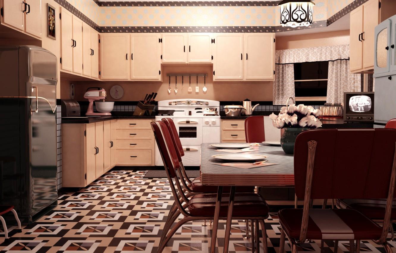 Wallpaper Furniture Kitchen The Room Headsets Vintage 1950s Kitchen Images For Desktop Section Rendering Download
