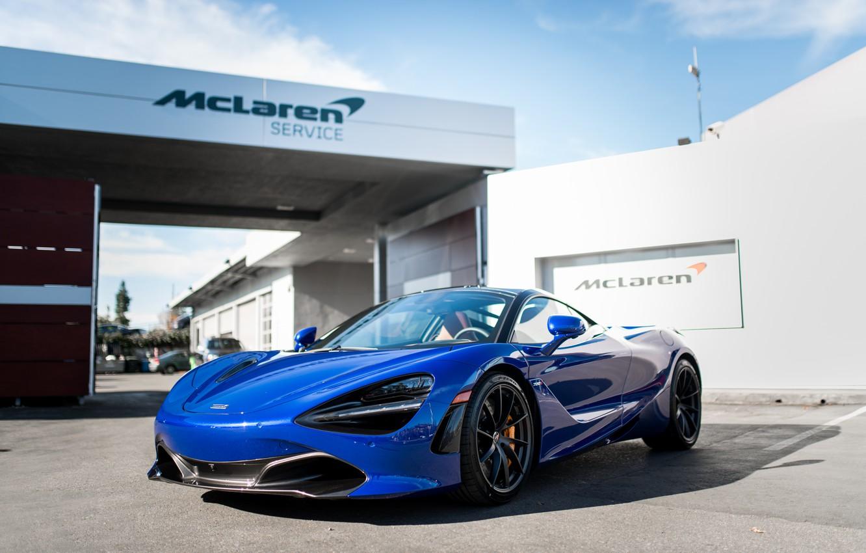 Photo wallpaper McLaren, Aurora, Blue, 720s