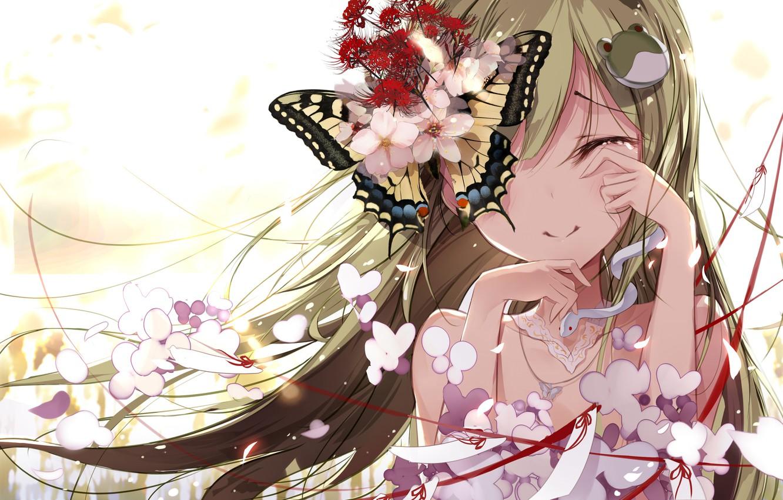 Photo wallpaper touhou, kochi have done the art, fallen heaven