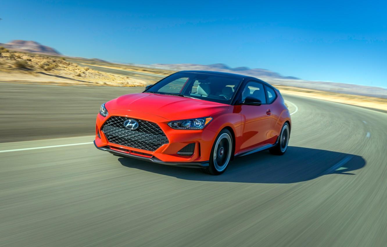 Photo wallpaper speed, Hyundai, Turbo, Veloster, 2019