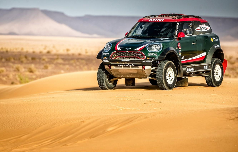 Photo wallpaper Sand, Mini, Cooper, Mini Cooper, Rally, Dakar, Rally, Mini