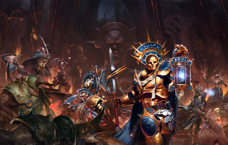 Photo wallpaper warriors, Warhammer 40 000, Shadows over Hammerhal