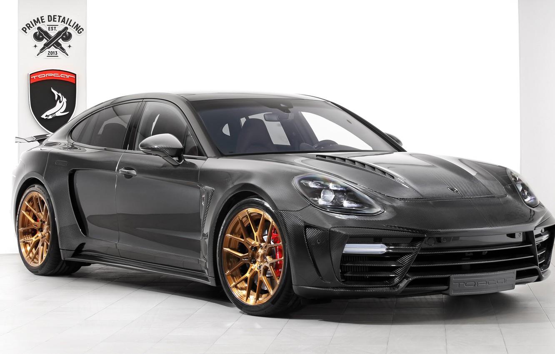 Photo wallpaper Porsche, Panamera, GTR, side view, 2018, Stingray, Ball Wed, Carbon Edition