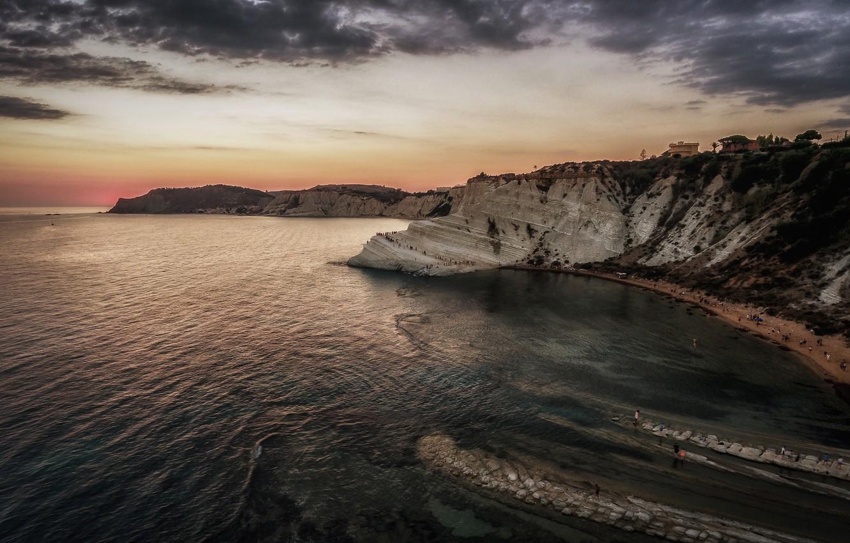 Wallpaper sea, rocks, Italy, Sicily, Realmonte images for desktop ...