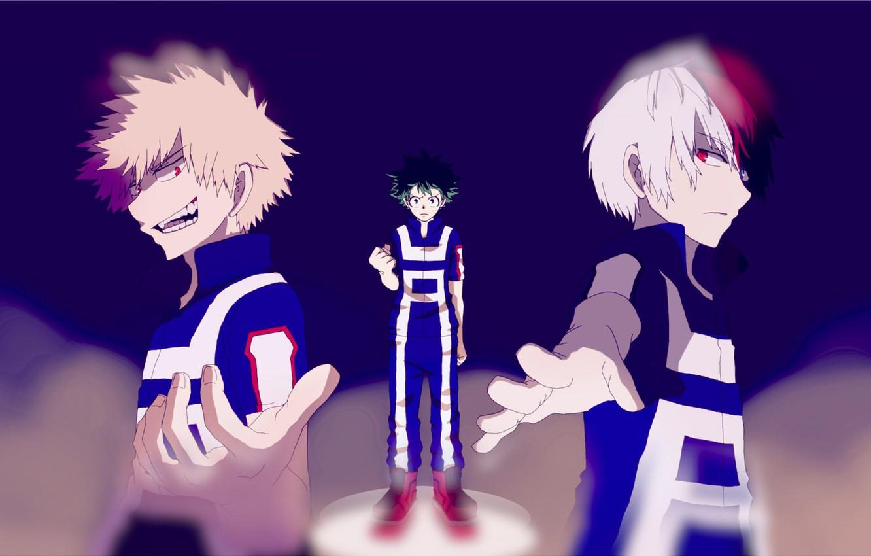 Photo wallpaper anime, art, guys, Boku no Hero Academy, My hero Academy