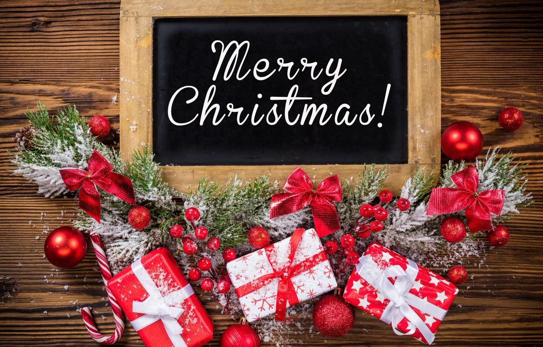 Photo wallpaper New Year, Christmas, christmas, balls, merry christmas, decoration, gifts, xmas