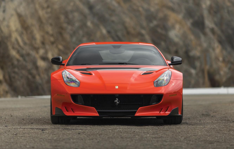 Photo wallpaper Ferrari, supercar, front view, F12, 2017, TDF