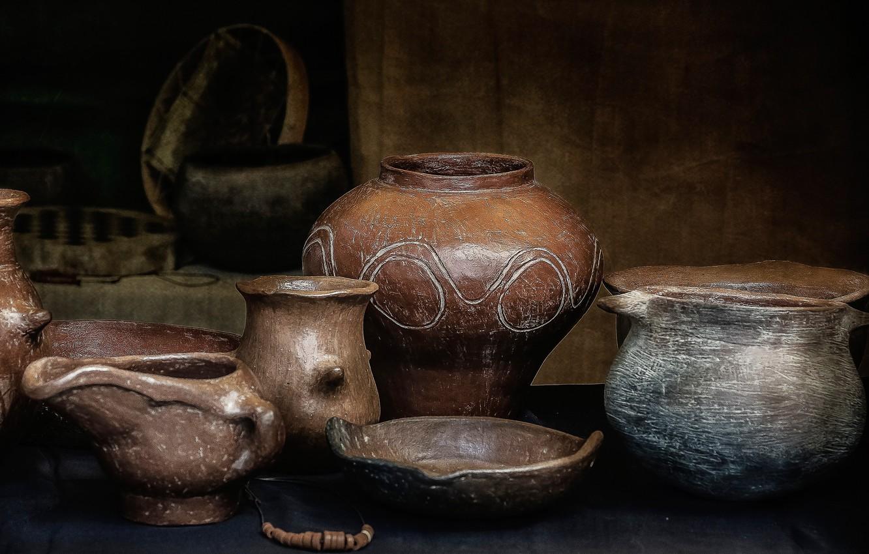 Photo wallpaper dishes, still life, utensils, ceramics