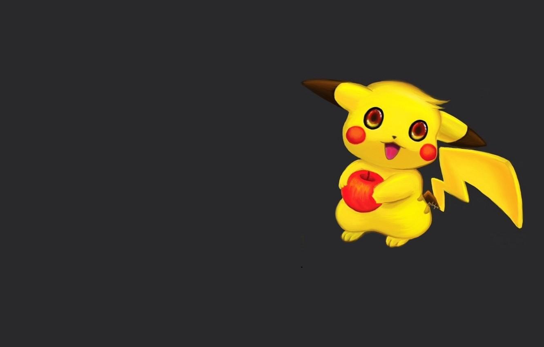 Photo wallpaper minimalism, anime, art, Pikachu, pokemon, children's, Apple, Pokémon Gb, Michael Galapon, Old digital paintings and …