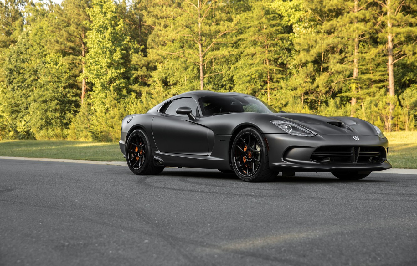 Photo wallpaper Dodge, Viper, GTS, Road, Forest