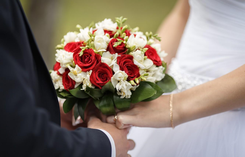Photo wallpaper flowers, bouquet, wedding, bouquet