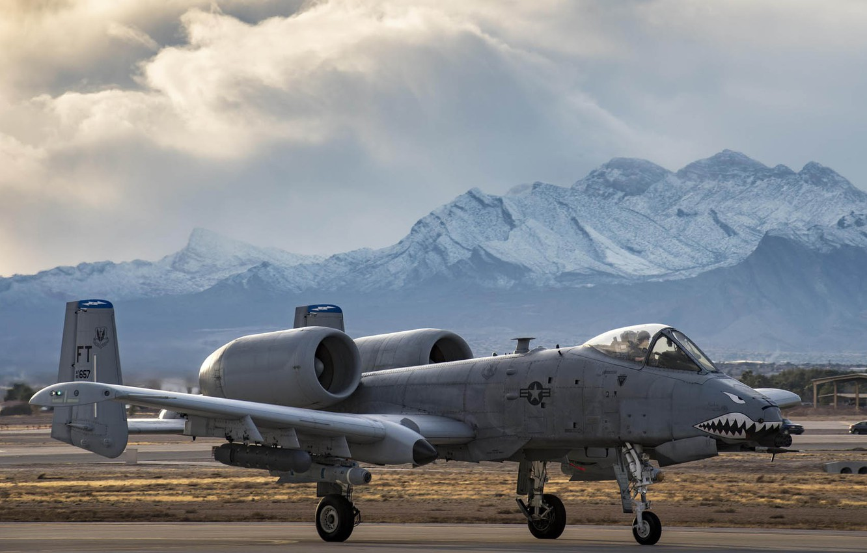 Обои republic, американский, A-10, бронированный, Fairchild, thunderbolt ii. Авиация foto 13
