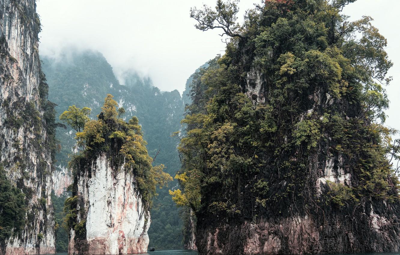 Photo wallpaper sea, trees, nature, rocks, Thailand