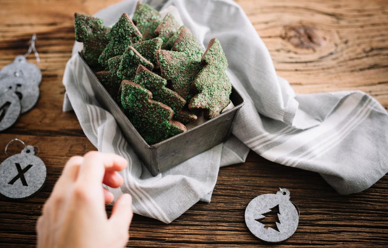 Photo wallpaper tree, hand, cookies