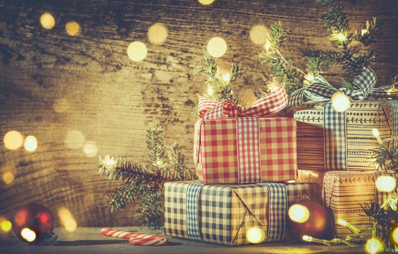 Photo wallpaper New Year, Christmas, christmas, vintage, balls, merry christmas, decoration, gifts, xmas, fir tree
