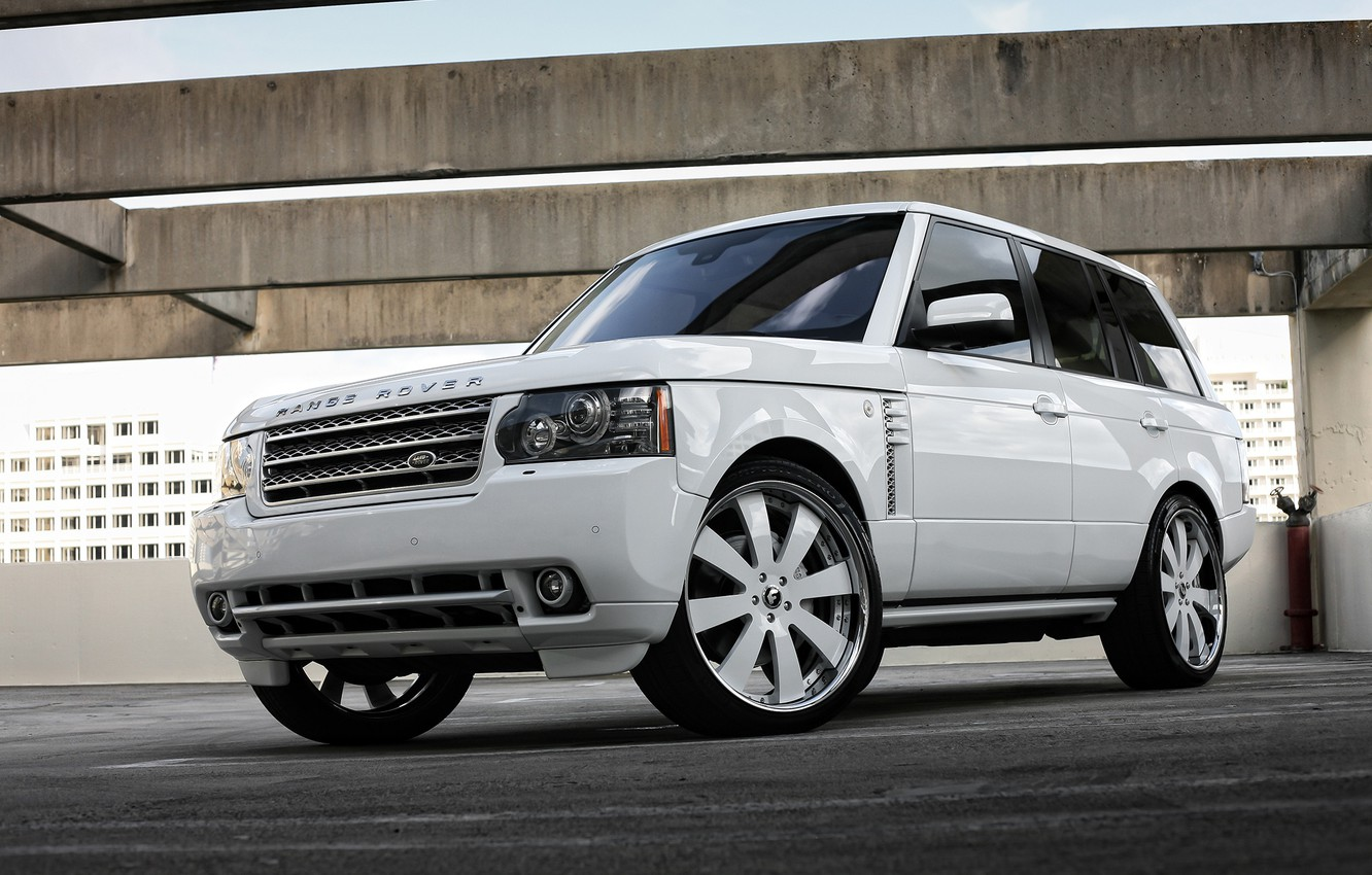 Photo wallpaper Range Rover, with, color, body, supercharged, HSE, trim, matched