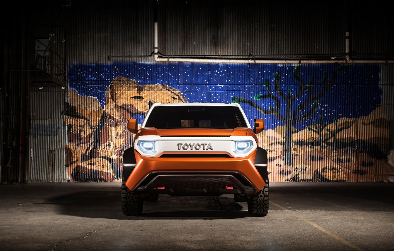 Photo wallpaper car, Toyota, Toyota FT 4X