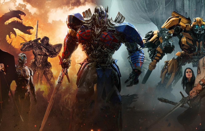 Photo wallpaper cinema, sword, mecha, machine, movie, Transformers, ken, blade, dragon, film, Transformers: The Last Knight